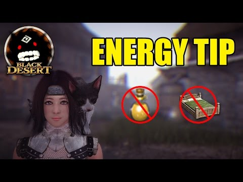 Black Desert Online: Unlimited Energy Tip (No energy potions/bed)