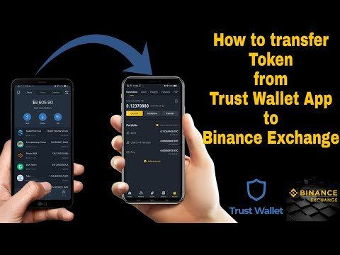 How to send token from Trust Wallet to Binance Exchange Account