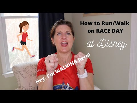 How to Run Walk a Big Run Disney Race 45 Seconds of running and 30 Seconds of Walking
