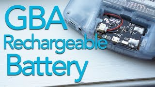 Retro Modding GBA Rechargeable Battery