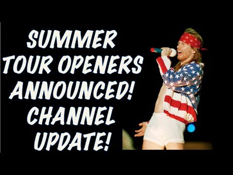Guns N' Roses News: North America Summer Tour Openers Announced! Channel Update!