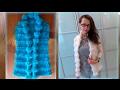 Вяжем стильный жилет спицами (Stylish waistcoat with knitting needles)