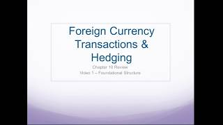 Video 1 - Foreign Currency Transactions Foundational Topics