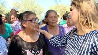 Atienden Gobernadora y titular de Sedena a afectados por lluvias