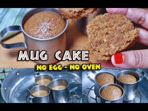 Chocolate Mug Cake Without Oven | No Oven-No Butter ...