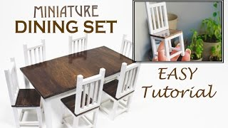 DIY Miniature Dining Set