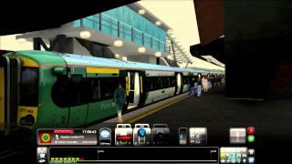 train simulator 2014 london to brighton east croydon to gatwick commentary