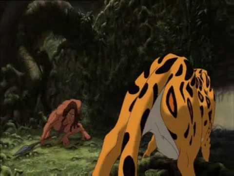 Tarzan & Kerchak vs Sabor
