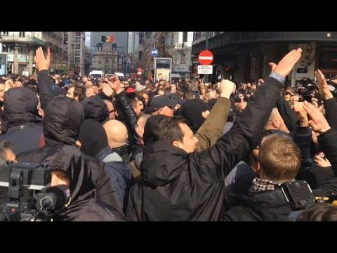 Nazi salutes at Brussels attack memorial