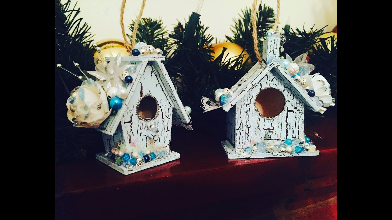 altered bird house christmas decoration - Bird House Christmas Decoration