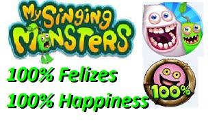 Como deixar todos monstros do jogo My Singing Monsters 100% Feliz