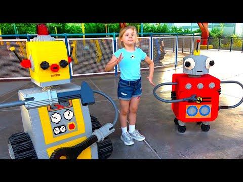 Diana and Roma in Legoland! Dubai Amusement Park Family Fun for kids