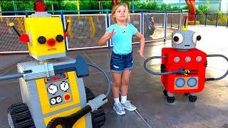 레고 랜드의 다이아나와 로마! 아이들을위한 두바이 놀이 공원 가족의 즐거움