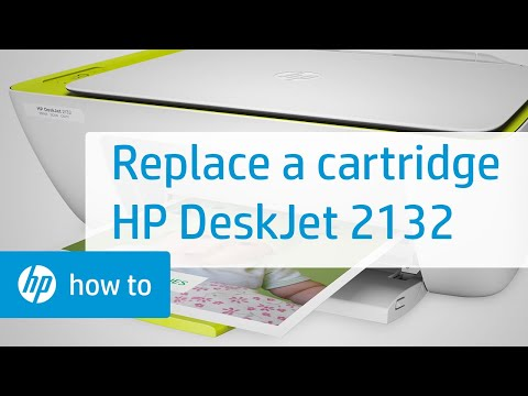 Replacing a Cartridge on the HP DeskJet 2132 Printer