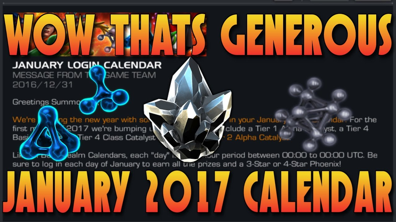 The Catalyst Calendar.Free Tier 4 Class Catalyst Crystal January 2017 Calendar Marvel Contest Of Champions