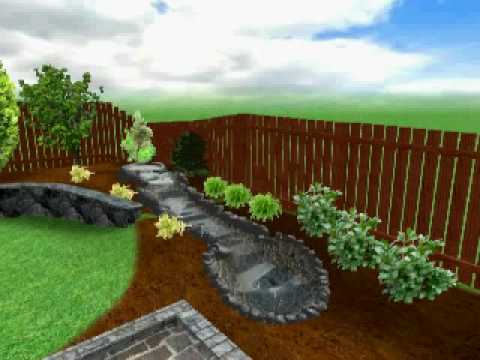 3d landscape design youtube for 3d garden designs