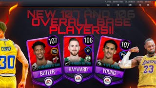 NEW 107 AND 106 OVR BASE PLAYERS IN NBA LIVE MOBILE 20 (NEW 107 OVR LEBRON JAMES AND STEPH CURRY)