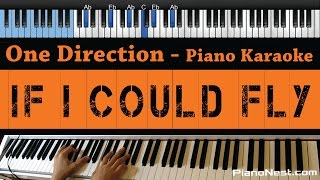 One Direction - If I Could Fly - LOWER Key (Piano Karaoke / Sing Along) Mp3