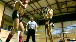 JJ Power V Carl Hand  Muay Thai Mayhem Clonmel 20th Aug 2011.mp4