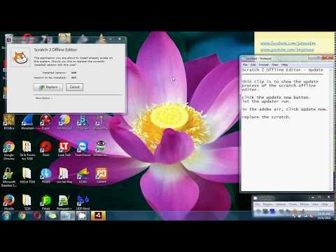 Scratch 2 Offline Editor - Update Scratch and Adobe Air