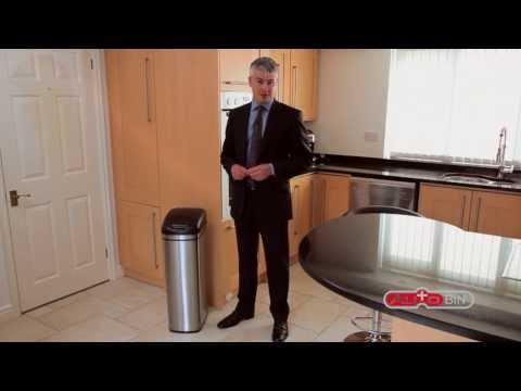 stainless-steel-slimline-sensor-activated-kitchen-bins