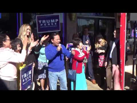 Dr. Hai Tran during Rally of Lara Trump at Eden Center