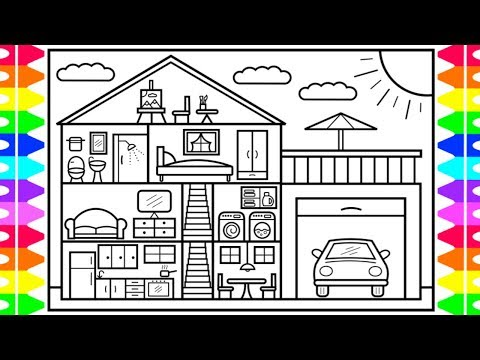 how-to-draw-a-house-step-by-step-🏡🚗house-drawing-design-|-house-coloring-pages-for-kids