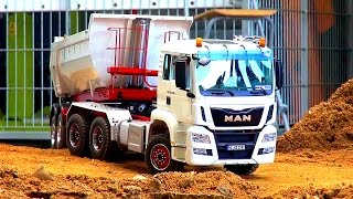 MAN 3-AXLE! Tractor Trailer! RC TRUCK ACTION! Semi Trailer! Halfpipe TIPPER! Stonebreaker! TGX!