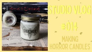 Etsy Studio Vlog #014 -- October Candle Making, Fall Wax Melts, & Audio Issues