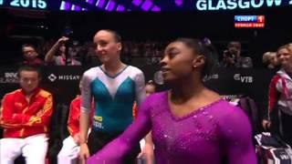 Biles Simone. Balance Beam.Gymnastics World Championships. Glasgow 2015.