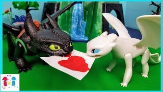 Toothless meets Lightfury Part 2! HTTYD 3 The Hidden World - PLAYMOBIL Skit Parody