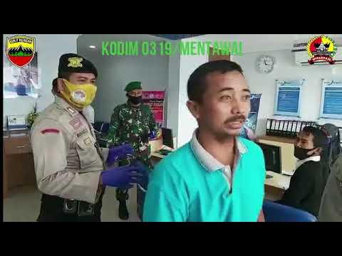 PATROLI GABUNGAN TNI-POLRI TINGKATKAN DISIPLIN PROTOKOLER KESEHATAN DI WILAYAH KODIM 0319/MENTAWAI