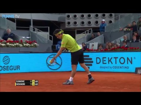 Nishikori Grinds Out Hot Shot Madrid 2016