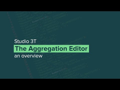 The Aggregation Pipeline Editor for MongoDB | Studio 3T - The GUI for MongoDB