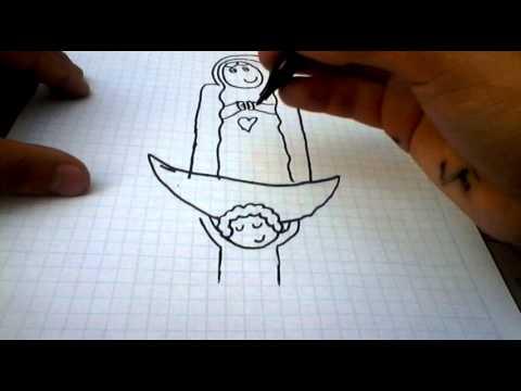 Como Dibujar A La Virgen De Guadalupe Paso A Paso Youtube