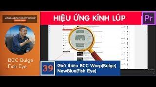 Plugin BCC Bulge|Hiệu ứng tạo KÍNH LÚP trong Adobe Premiere Pro