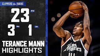 Terance Mann (23 PTS) Provides Spark vs. Philadelphia 76ers