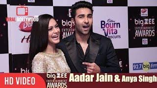 Aadar Jain With Anya Singh At Big Zee Entertainment Awards 2017   #BigZeeAwards