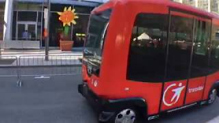 Navette autonome Transdev en démonstration à Montréal