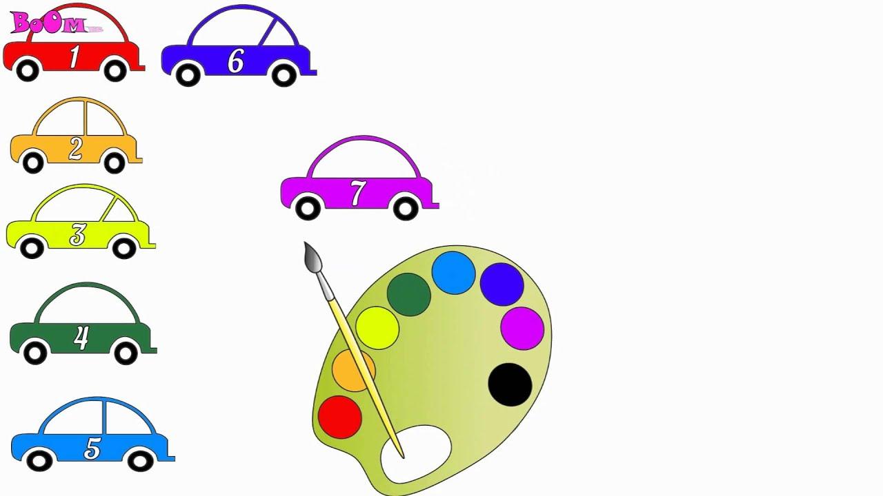 Радуга учим цвета. Раскраска для детей. Учимся считать с ...