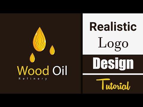 How to make realistic logo design | Adobe illustrator Tutorial thumbnail