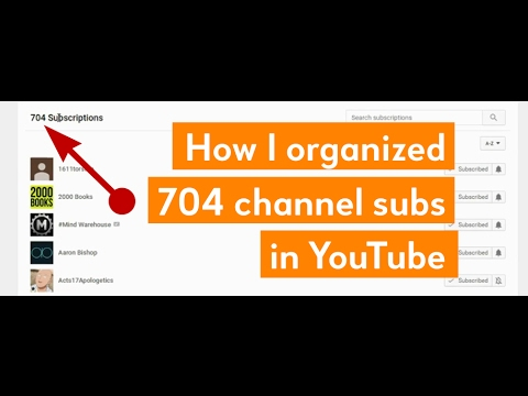 Organize your YouTube subscriptions into categories