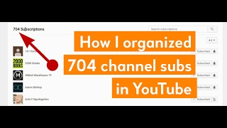Organize your YouTube subscriptions into categories thumbnail