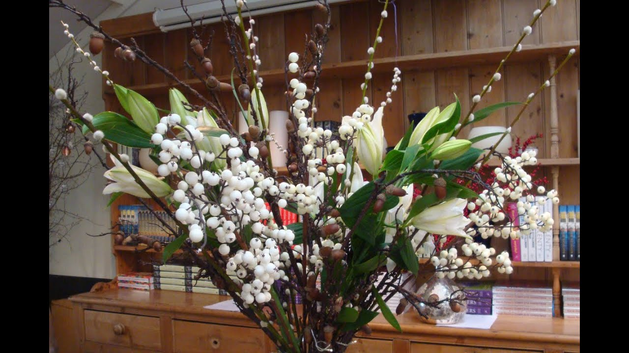 How To Create A Large Floral Winter Vase Arrangement Youtube