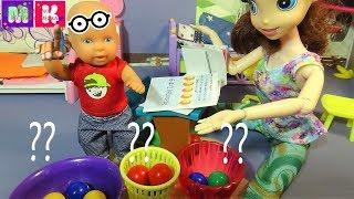 Сколько грибов в бочонке. Катя и Макс веселая семейка. Куклы школа новые серии.