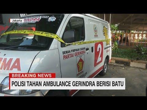 Ini Dia Ambulans Gerindra yang Berisi Batu di Aksi 22 Mei