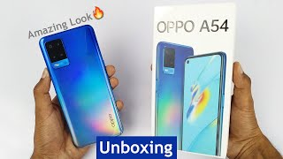 Oppo A54 Starry Blue Unboxing & First Look 🔥