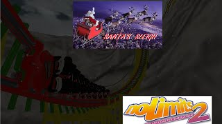 Santa's Sleigh! No Limits 2 Christmas Wooden Coaster!