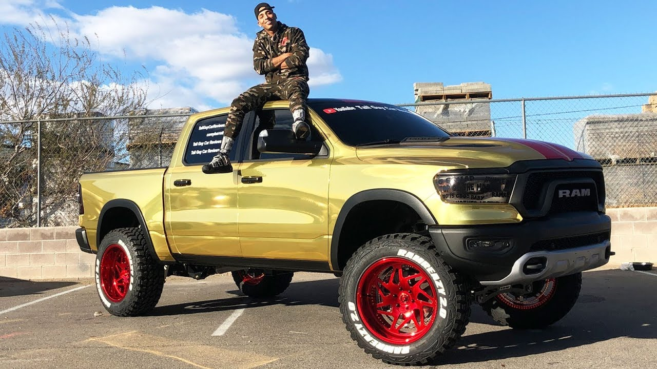 MY GOLD CHROME WRAPPED RAM REBEL IS FINALLY COMPLETE!! - YouTube