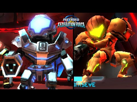 Metroid Prime Federation Force ALL BOSSES (4 Players - 3DS)